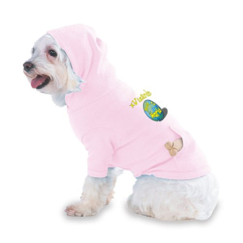 Wizards Rock My World Hooded (Hoody) T-Shirt with pocket for your Dog or Cat Small Pink
