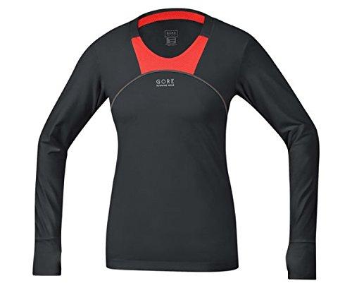 GORE Ladies Air 2.0 So Lady Shirt Long, Black/Fluo Orange, 36in