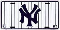 NY Yankees White Pinstripe License Plate
