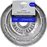 Electric Stove Disposeable Drip Pan Liner Set - 12 Piece