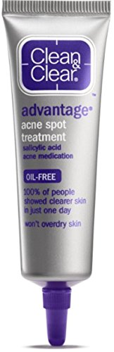 Clean & Clear Clear Advantage Acne Spot Treatment, 0.75-Ounce Tubes (Pack of 3)