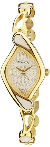 Sonata Sona Sitara Analog White Dial Women's Watch – NF8073YM01