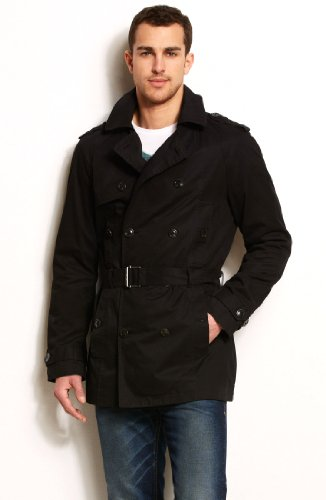 Armani Exchange Mens Cotton Trench Coat