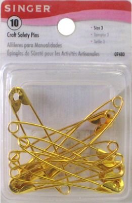 Singer Safety Pins Craft, 10-count (3-Pack)