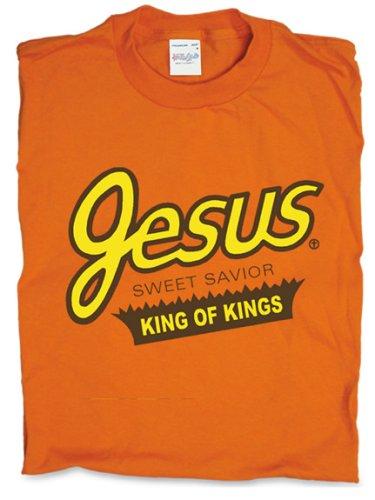 Sweet Jesus T-Shirt - King of Kings, Orange,Large