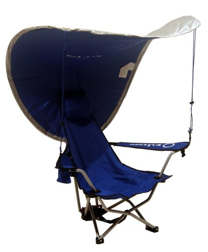 Kelsyus Recline Backpack Beach Chair With Uv Canopy