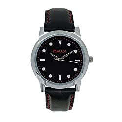 Omax Analog Black Dial Watch