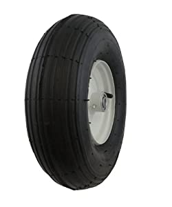 Marathon Industries 20081 4.00-6-Inch Air Filled Pneumatic Tire with Ribbed Tread by Marathon Industries