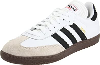 adidas Men's Samba Classic Soccer Shoe,Run White/Black/Run White,7 M