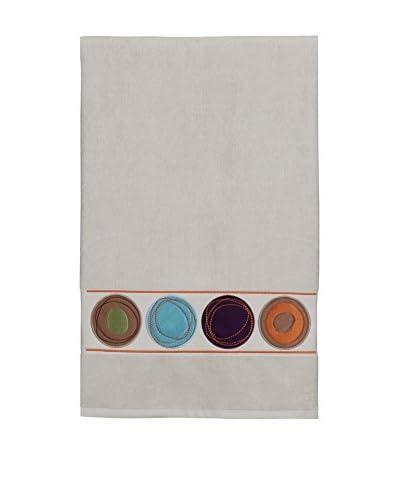 Creative Bath Dot Swirl Embroidered Bath Towel, Bright