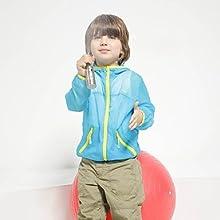Latest Children Lightweight Skin Windbreaker - 110cm - Orange
