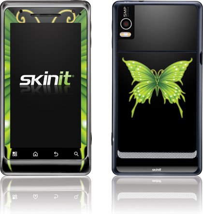 Butterfly - Green and Black Butterfly - Motorola Droid 2 - Skinit Skin zodiac gemini midnight black motorola droid 2 skinit skin