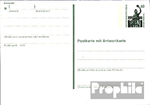 Berlin (West) p133 Officiel Carte postale cachet de complaisance 1989 attractions (Documents entiers postaux pour les collectionneurs)