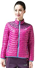Makino Women39s Outdoor Lightweight Keep Warm Cotton-padded Jacket M6016-2 - Rose Red - XXL