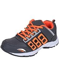 Surplus Men's Mesh Grey & Orange Sports Running Shoes