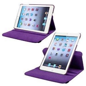 Acclamé Qualité d'Apple New iPad Apple iPad Air 2/6 Ipad (2014-15) 360 degrés de rotation horizontale et verticale Violet Voir Housse en cuir pour Apple New iPad Apple iPad Air 2/6 Ipad (2014-15) par G4GADGET®