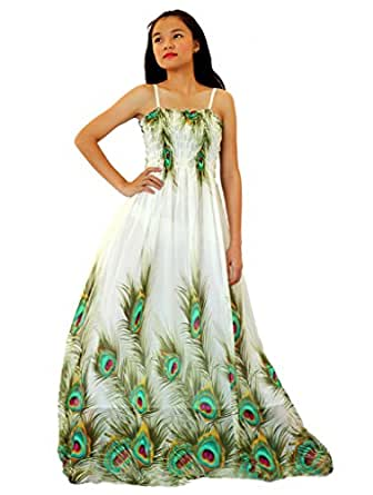 Mayridress women peacock maxi dress plus size clothing for Amazon wedding guest dress