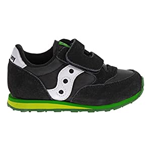 Saucony Jazz Hook and Loop Sneaker (Toddler/Little Kid),Black/Green,9.5 M US Toddler
