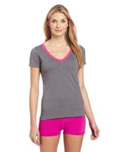 Zumba Fitness LLC Women's So Hot Solar V-Neck T-Shirt, X-Small, Heather Grey
