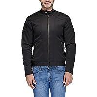 Scott Men's Black Full Sleeve Bomber/Rider Jacket - SC-BJKT-L