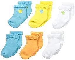 Gerber Baby Unisex 6 Pack Variety Socks, Duck, 12 Months