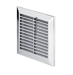 chrome air vent grille 170mm x 170mm silver wall. Black Bedroom Furniture Sets. Home Design Ideas