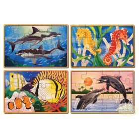 Melissa & Doug Deluxe Sea Life in a Box Jigsaw Puzzles - Buy Melissa & Doug Deluxe Sea Life in a Box Jigsaw Puzzles - Purchase Melissa & Doug Deluxe Sea Life in a Box Jigsaw Puzzles (Melissa & Doug, Toys & Games,Categories,Preschool,Pre-Kindergarten Toys,Puzzles)