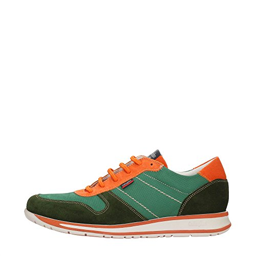 CallagHan 88404 Sneakers Uomo Pelle Verde Verde 43