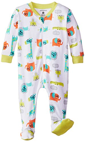 Petit Lem Baby Boys Jungle Of Joy Footed Pajama Sleeper