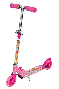 Toy House TOYHOUSE Two Wheeled Metal Folding Skate Scooter with Light up Wheels and Height Adjustable Handlebar Pink