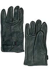 Rothco Black Leather Gloves