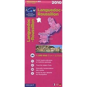 Languedoc-Roussillon : 1/250000