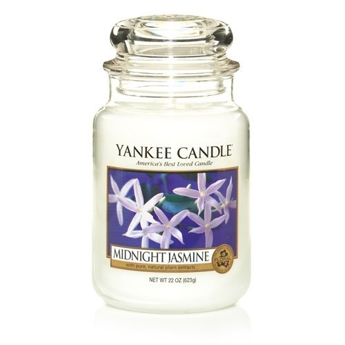 Yankee Candle 22-Ounce Jar Scented Candle, Large, Midnight Jasmine
