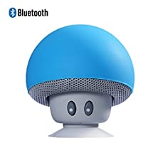 buy Deliy Mini Mushroom Portable Bluetooth 4.1 Wireless Stereo Speaker Hands-Free Bluetooth Speaker With Built-In Mic For Iphone, Samsung, Ios And Android Smartphones (Blue)