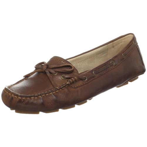 Frye Women's Reagan Campus Driver Nubuck Brown Penny Loafer 72284 4 UK