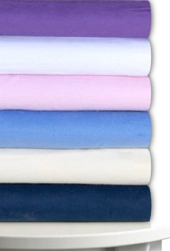 Magnolia Organics Fitted Fleece Crib Sheet - Standard, Lavender - 1