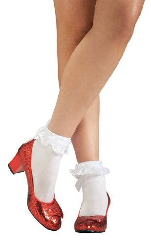 Dorothy Red Sequin Shoes Slippers Wizard of Oz