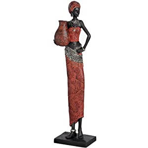 Tall African Lady In Traditional Red Dress Ornament