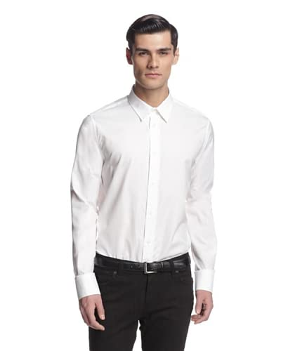 Versace Jeans Men's Solid Long Sleeve Woven Shirt