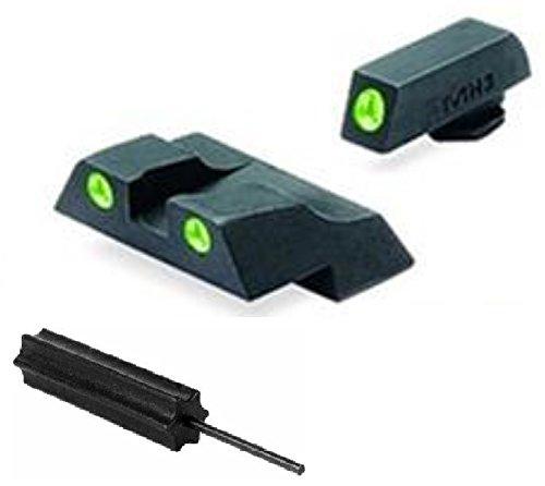 Meprolight The Mako Group Ml10226 Glock® Tru-Dot® Night Sight Set - Glock® 26 And 27 + Ultimate Arms Gear Pro Disassembly 3/32 Pin Punch Armorers Gunsmith Tool