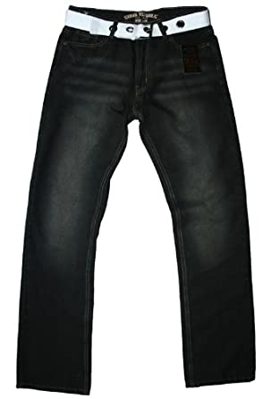 Urban Republic - jean & ceinture - comfort fit - délavé noir - homme, 32W 32L