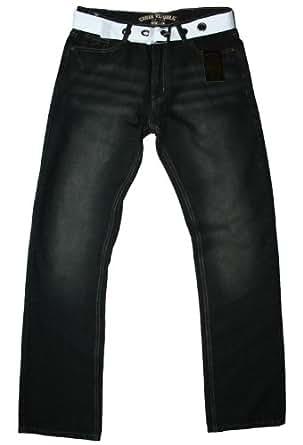 Urban Republic - jean & ceinture - comfort fit - délavé noir - homme, 30W 30L