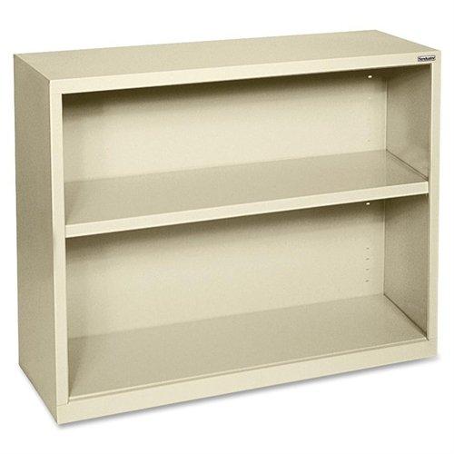 Lorell LLR41281 Fortress Series Steel Book Case, Putty Series Steel 3 Shelf Bookcase