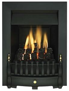 ekofires 3030 living flame gas fire black 39 blenhiem 39 full. Black Bedroom Furniture Sets. Home Design Ideas