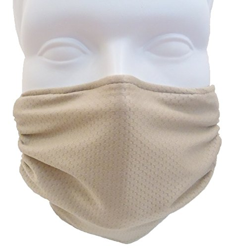 Dust, Pollen & Allergy Mask by Breathe Healthy; Air Filtering Mask with Germ Killing Antimicrobial Ideal for Sanding & Drywall, Renovation & Construction; Honeycomb Beige Mask (Furnace Cloth compare prices)
