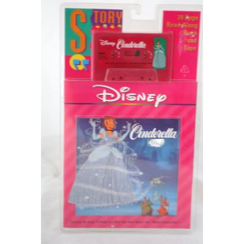 Disney CINDERELLA 24 Page Read Along Book and Cassette Tape: Disney