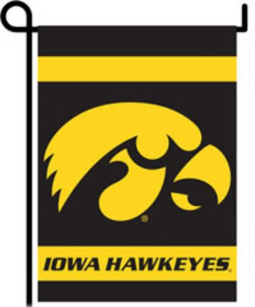 IOWA HAWKEYES Double Sided Garden Flags
