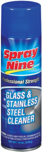 Spray Nine 23319-12PK Glass and Stainless Steel Cleaner - 19 oz., (Pack of 12)
