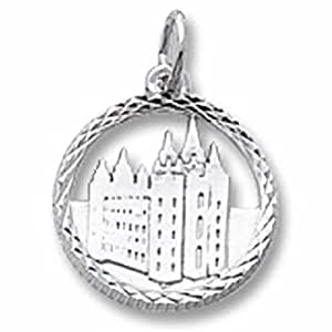 Mormon Temple Charm In Sterling Silver, Charms for Bracelets and Necklaces