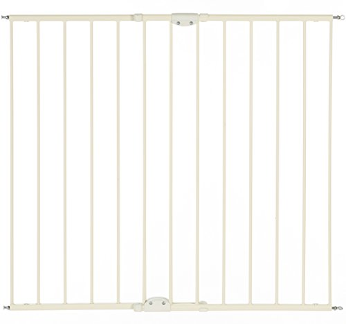 North States Industries Supergate Easy Swing and Lock Gate, Linen, Tall